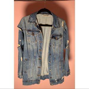 Noisy May Distressed Denim Jacket